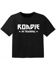 Camiseta Cool para bebé roadie in training