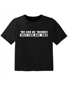Camiseta Cool para bebé we can be heroes j