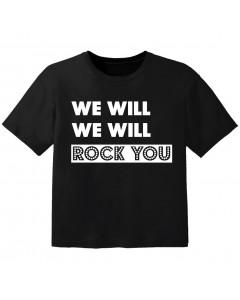 Camiseta Rock para bebé we will we will Rock you