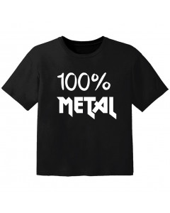 Camiseta Rock para niños 100% Metal